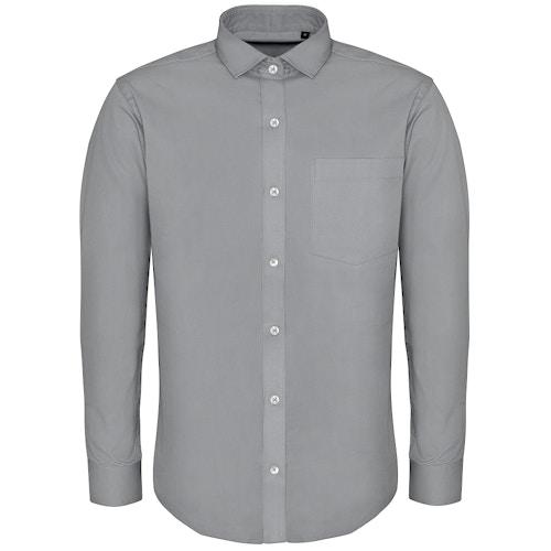 Bigdude Fine Twill Long Sleeve Shirt Stone Tall