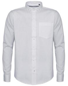 Bigdude Fine Twill Long Sleeve Shirt White Tall
