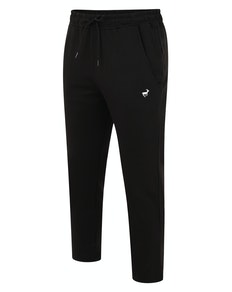 Bigdude Open Hem Loop Back Joggers Black