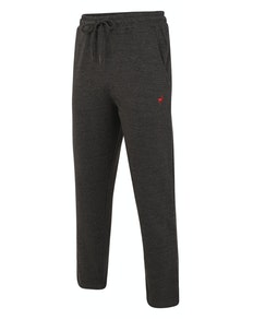 Bigdude Open Hem Loop Back Joggers Charcoal