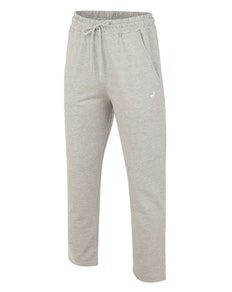 Bigdude Open Hem Loop Back Joggers Grey Marl