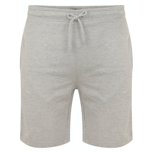 Bigdude Loop Back Jogger Shorts Grey Marl