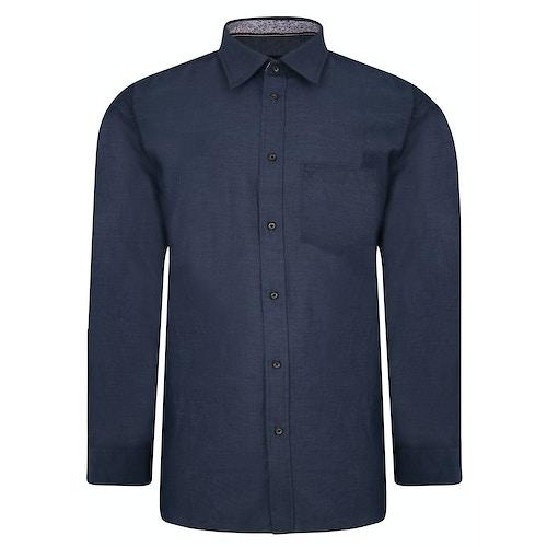 Cotton Valley Langarmhemd Jeansblau