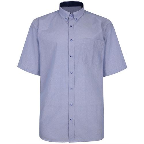 KAM gestreiftes Premium Kurzarmhemd Blau