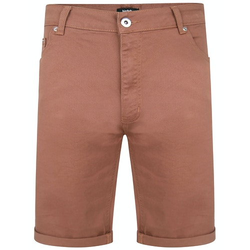 Bigdude Stretch Denim Shorts Braun