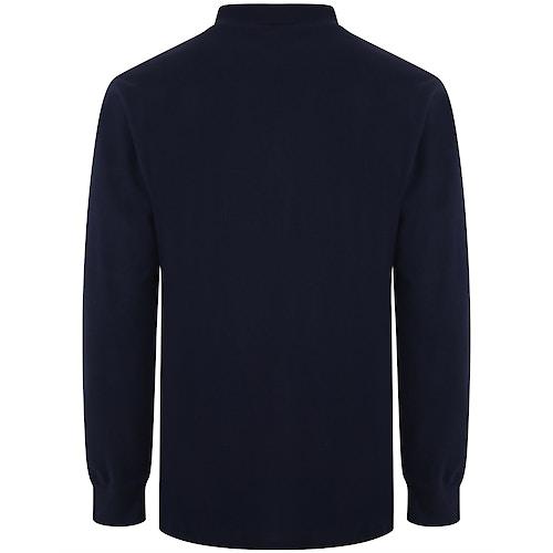 Bigdude Langarm Poloshirt Marineblau
