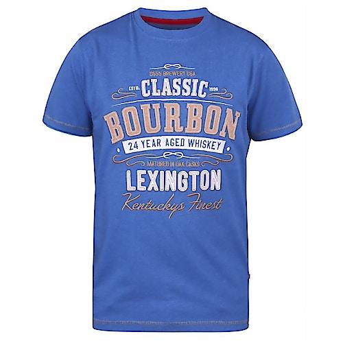 D555 MacMillan Bourbon Whisky Print T-Shirt Blau