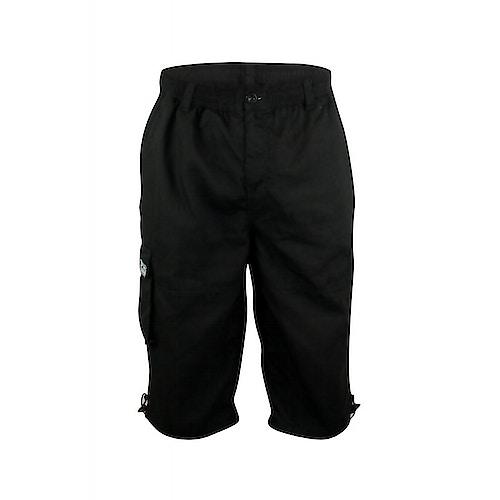 D555 Mason Black Cargo Capri Pant with Leg Pocket