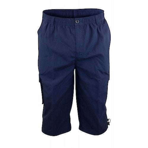 D555 Mason Navy Cargo Capri Pant with Leg Pocket