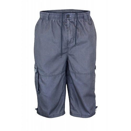 D555 Mason Grey Cargo Capri Pant with Leg Pocket