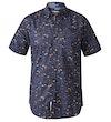 Medway Floral Print Short Sleeve Shirt Navy