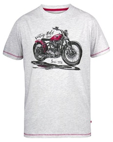 D555 Miles Vintage Rides Printed T-Shirt Off White
