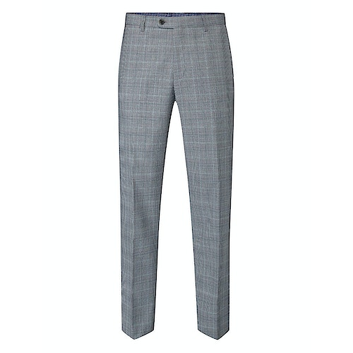 Skopes Bracali Check Trousers Grey/Teal