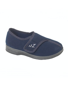 Zedzzz Connor Touch Fasten Slippers Navy
