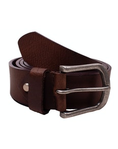 Dave Plain Dark Brown Leather Belt