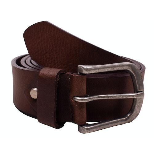 Dave Plain Dark Brown Leather Belt