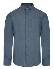 Bigdude Chambray Long Sleeve Shirt Blue