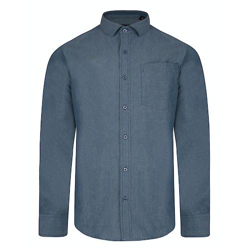 Bigdude Chambray Long Sleeve Shirt Blue Tall