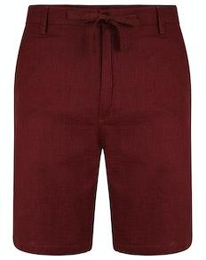 Bigdude Linen Shorts Burgundy
