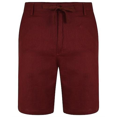 Bigdude Leinen Shorts Weinrot