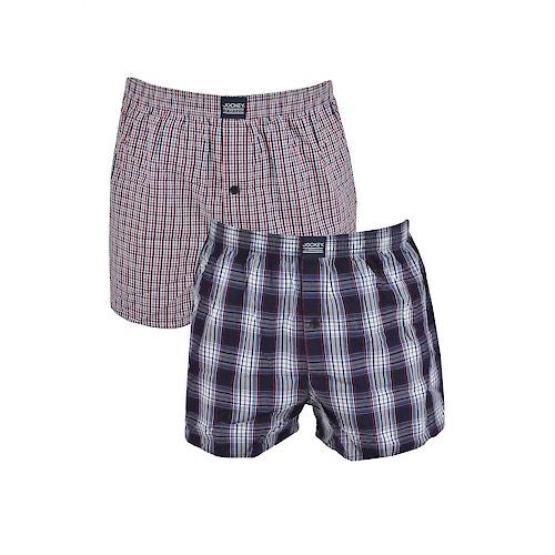 Jockey 2 Pack Boxer Shorts - Stonewash