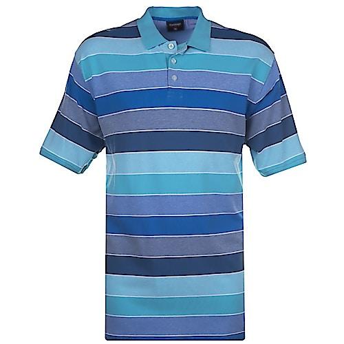 Espionage Auto Stripe Polo Shirt Mint Navy Green
