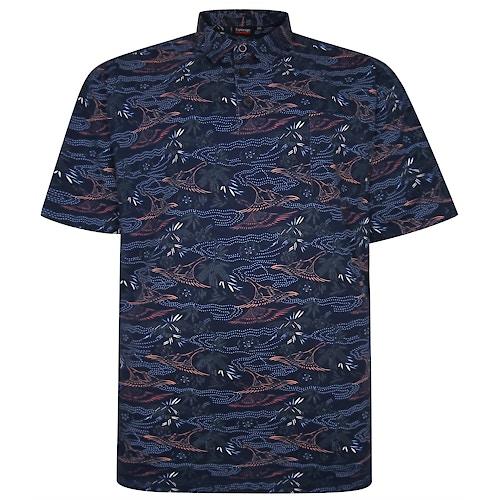 Espionage Floral Polo Shirt Navy
