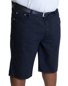 Bigdude Lightweight Denim Shorts Schwarz