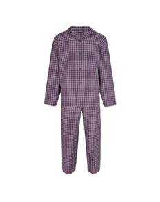 Espionage Check Pyjamas Navy/Red