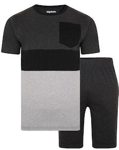 Bigdude Cut & Sew Pyjama Set Grau
