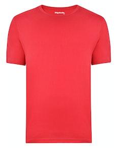 Bigdude Plain Crew Neck T-Shirt Red Space Cherry Tall
