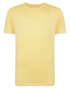 Bigdude klassisches T-Shirt mit Rundhalsausschnitt Gelb Tall Fit