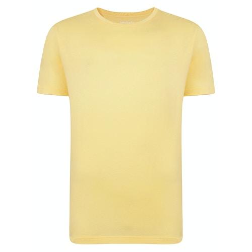 Bigdude Plain Crew Neck T-Shirt Yellow Tall