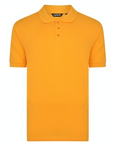 Bigdude Plain Polo Shirt Orange Tall