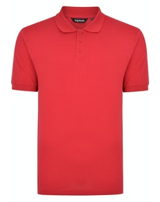 Bigdude Plain Polo Shirt Red Space Cherry