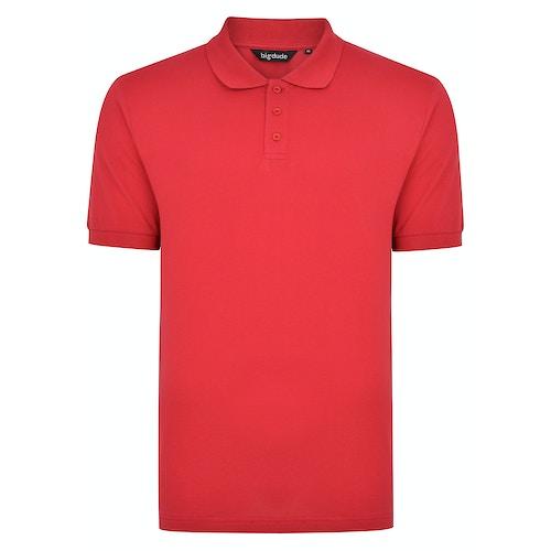 Bigdude Plain Polo Shirt Red Space Cherry Tall