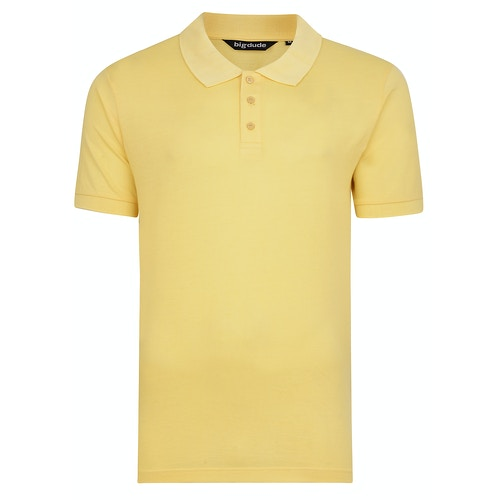 Bigdude Plain Polo Shirt Yellow
