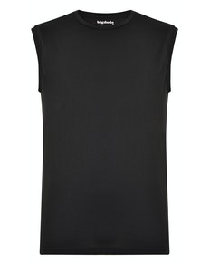 Bigdude Plain Sleeveless T-Shirt Black