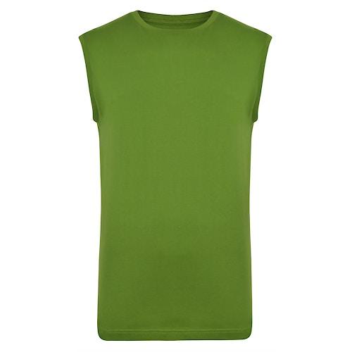 Bigdude Ärmelloses T-Shirt Kaktusgrün Tall Fit