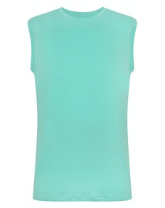 Bigdude Plain Sleeveless T-Shirt Green