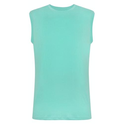 Bigdude Ärmelloses T-Shirt Grün Tall Fit