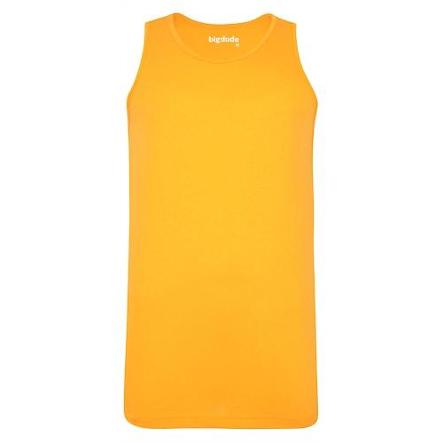 Bigdude Plain Vest Orange Tall