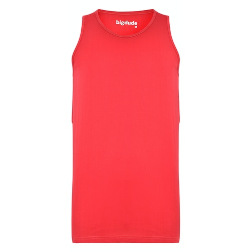 Bigdude Plain Vest Red Space Cherry