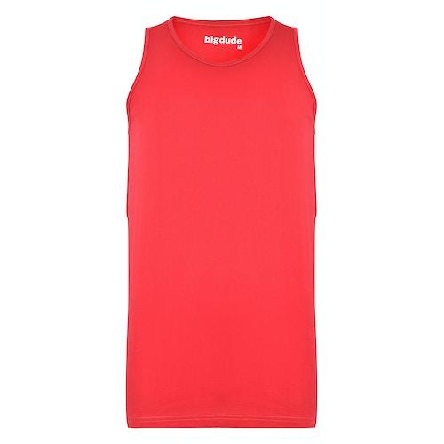 Bigdude Plain Vest Red Space Cherry Tall