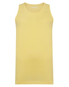 Bigdude Plain Vest Yellow Tall