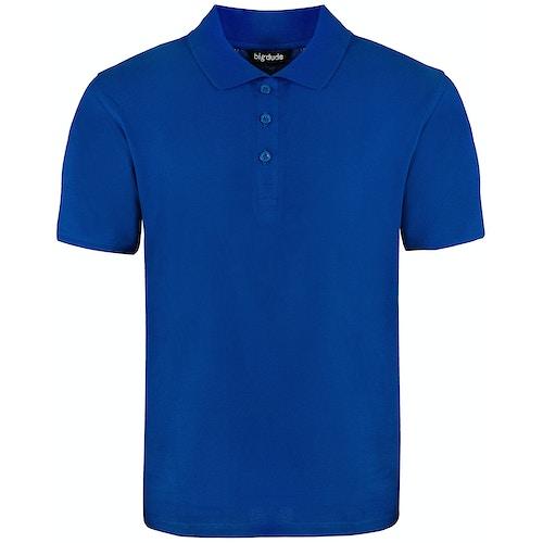 Bigdude Plain Polo Shirt Royal Blue