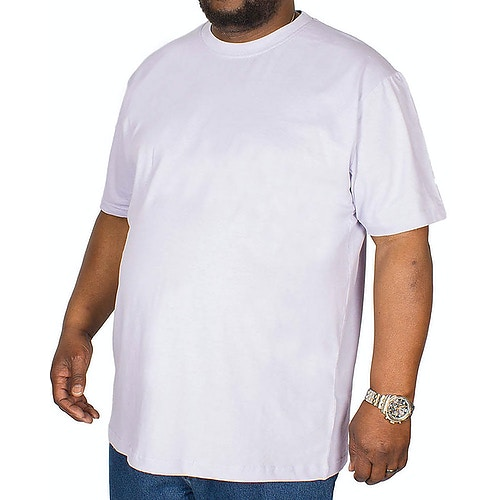 Bigdude Plain Crew Neck T-Shirt Purple