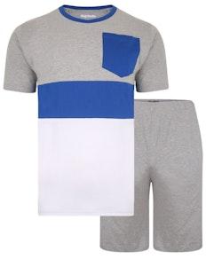 Bigdude Cut & Sew Marl Pyjama Set Grey
