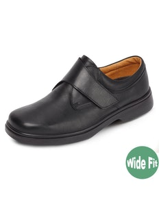 DB Shoes Reece Wide Fit Black Leather Shoe