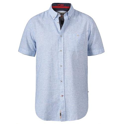 D555 Reid Linen Mix Shirt Sky Blue